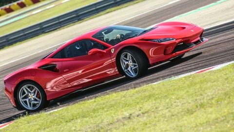 the f8 tributo is ferrari's newest rear mid v8 powered sports car with the traction control off, you can slide the tail out way more than competitors allow while still saving you from spinning