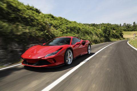 Ferrari F8 Tributo on the road in Maranello