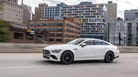 The 2019 Mercedes-AMG GT53 4-Door comes with an I6 and 48-volt electrical system to deliver 429 hp and 384 lb-ft of torque.