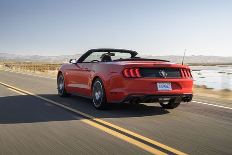 Take a look at the 2020 Ford Mustang High Performance Package Convertible powered by a 2.3-liter turbocharged inline-four engine.