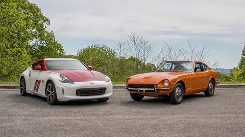 Land vehicle, Vehicle, Car, Sports car, Automotive design, Datsun/nissan z-car, First generation nissan z-car (s30), Sedan, Coupé, Performance car,