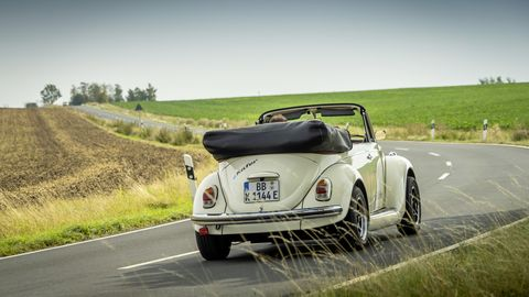 This vintage Volkswagen might look like a modified Beetle, and it should: because it is. Though, instead of a stroked, flat-four under the engine cover, this one uses an electric motor from the VW e-Up!.