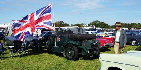 A Bentley-sized Union Jack.