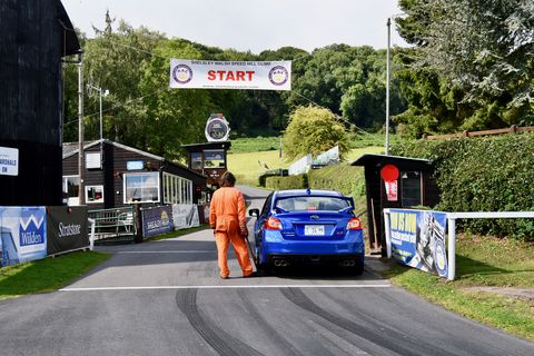 Power matters on the steep Shelsley Walsh course. Aero matters too, at least for the pros -- but in our case, the Subaru WRX STI's all-wheel drive helped bail us out of more than once as we learned the ins and outs of the hill.