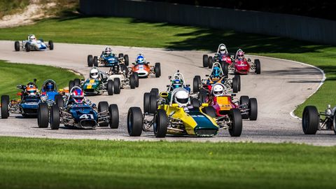 There's nothing like a vintage car race meet to get the heart racing just a tick faster.