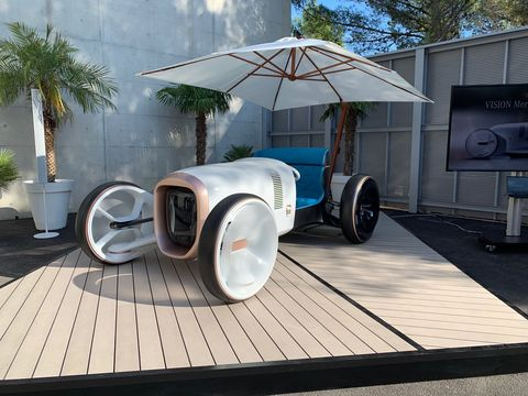 Here is the Vision Mercedes Simplex revealed at a new design center outside of Nice, France