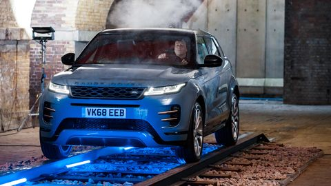 The 2020 Land Rover Range Rover Evoque comes with either a 296-hp, 48-volt mild hybrid system or a 246-hp four.