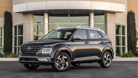 The 2020 Hyundai Venue only comes with a 1.6-liter four making 121 hp.