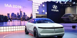 The Hyundai 45 EV Concept debuted at the 2019 Frankfurt motor show.