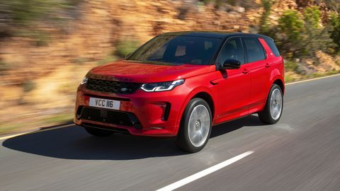 The 2020 Land Rover Discovery Sport comes with a 246-hp four-cylinder engine.