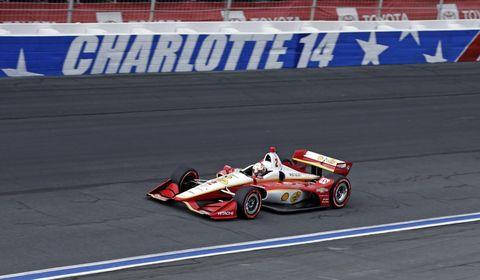 IndyCar champion Josef Newgarden took six laps around NASCAR's ROVAL Friday night