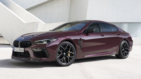The BMW M8 Gran Coupe will be available in standard guise, with 600 hp and 553 lb-ft on tap, or in Competition flavor with 617 hp.