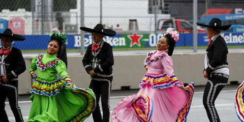 <br /> Sights from the action at the Autódromo Hermanos Rodríguez ahead of the F1 Mexican Grand Prix, Saturday Oct. 26, 2019