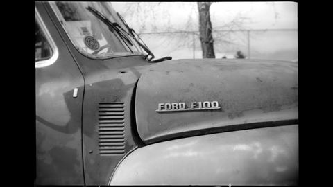1953 Ford F-100 photographed with 1937 Agfa B-2 Cadet camera