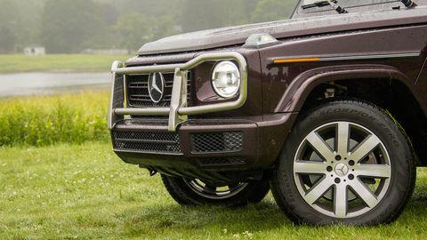 Land vehicle, Vehicle, Car, Automotive tire, Bumper, Tire, Wheel, Sport utility vehicle, Automotive exterior, Mercedes-benz g-class,