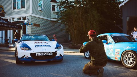 Spectating at the Empire Hill Climb is unlike most other hill climbs: fans get to watch the cars from above, without guard rails or fences blocking the view.