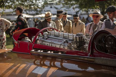 All eras of the Goodwood Circuit, originally active from 1948 to 1966, are represented simultaneously at the Revival, giving rise to no small number of anachronisms. This is where you remember that it's a revival, not a reenactment. You're not supposed to overthink it!