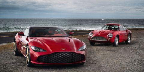 Land vehicle, Vehicle, Car, Automotive design, Sports car, Red, Performance car, Supercar, Aston martin db4 gt zagato, Coupé,