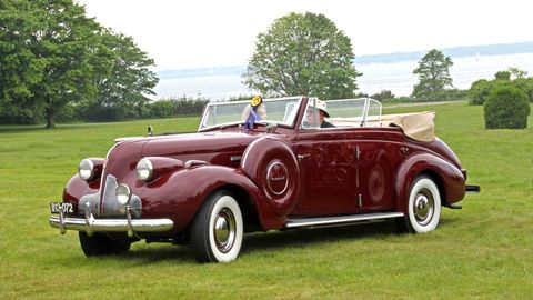 """A selection of cars from the 2009 edition of the """"old"""" Newport Concours. As you can see, the location and views have demanded a concours event for some time to be resurrected in the Rhode Island town."""