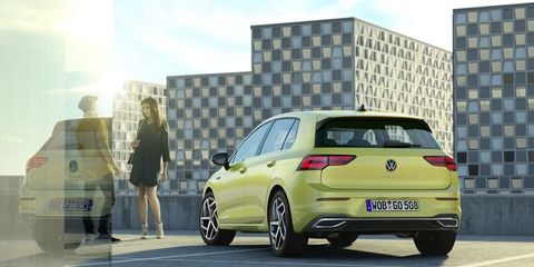 The eighth-generation VW Golf will feature crisper styling thanGolf hatchbacks of yore. The new Golf will also come with at least five hybrid variants when it hits dealers.