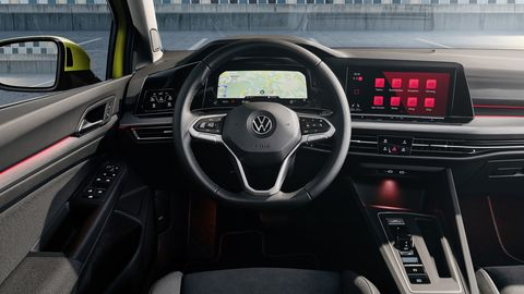 The eighth-gen VW Golf is following the button-less trend with its interior.