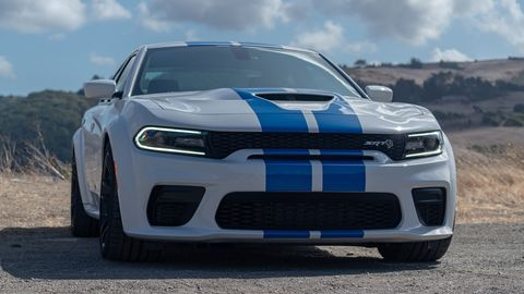 The 2020 Dodge Charger Widebody makes either 485 hp in the Scat Pack or 707 hp in the Hellcat.