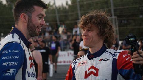 James Deane and teammate Piotr Woicek at Formula Drift Irwindale 2019