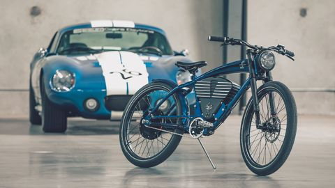 A company called Vintage Electric has tried to channel Ol' Shel's legacy with a Shelby electric bicycle - just in time for Ford v Ferrari. Price for the 48-volt bike with its 1.1-kWh battery is $7249.