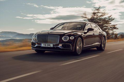 The 2020 Bentley Flying Spur is an elegant, expensive luxury sedan.