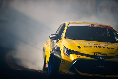 Fredric Aasbo came close to winning his second championship this year. He drives a 1000-hp Toyota Corolla.