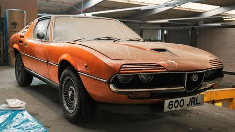 This 1976 Alfa Romeo Montreal has been in storage for 15 years.