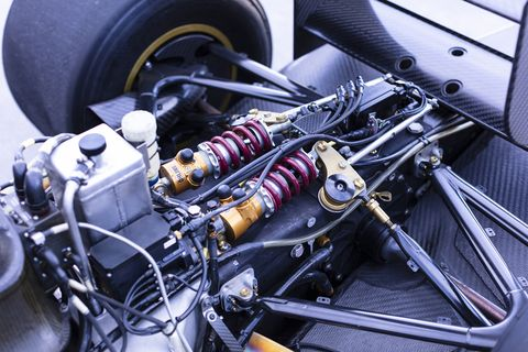 Take a look under the skin and the detail of the FZed. No, it's not a Formula 1 car, but it definitely looks the part from most any angle. And, yes, that Cosworth V8 is as fast as it looks.
