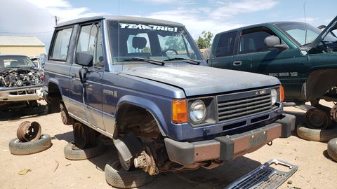 Nearly identical to the Mitsubishi Montero, the Raider has become an extremely rare junkyard find.