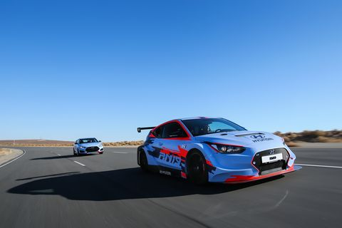 First Drive: Hyundai's RM19 mid-engine track car.Hyundai took the front-wheel drive powertrain and moved it to the back - voila - mid-engine track demon!