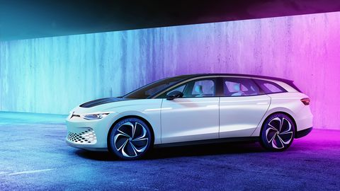 VW calls the2019 ID Space Vizzion concept a crossover.