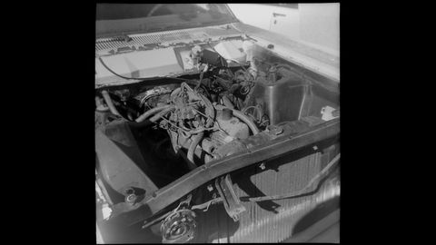 It's a 1967 Mustang, but there isn't much left of it.