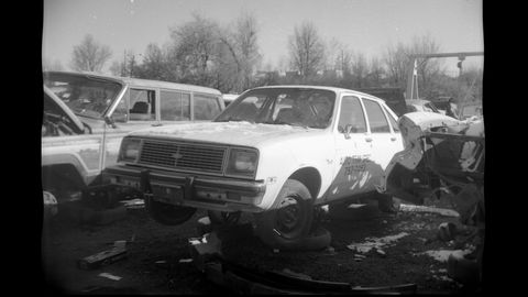 The Chevette here is about 40 years younger than the camera that photographed it. Build quality on both car and camera are very similar.