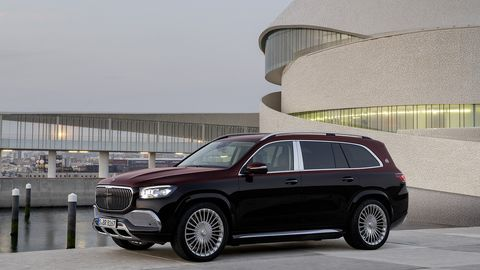 The Mercedes-Maybach GLS 600 features a 48-volt mild-hybrid system that helps its 4.0-liter turbocharged V8 be more efficient.