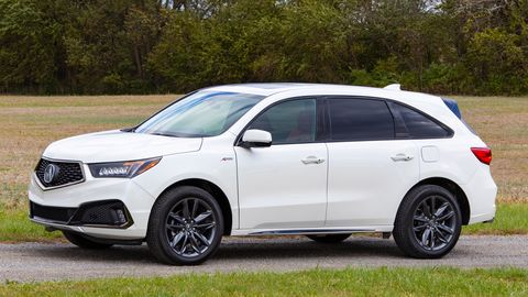 The Acura MDX A-Spec gets a 3.5-liter V6 delivering 290 hp.