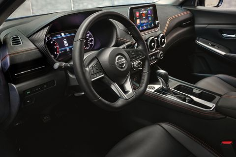 The 2020 Sentra gets Nissan's flat-bottomed steering wheel.