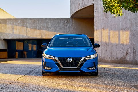 Nissan's V-Motion grille makes an appearance on the 2020 Nissan Sentra.
