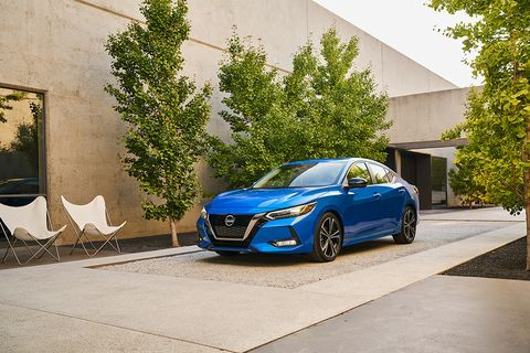 The redesigned 2020 Nissan Sentra sedan debuted at the 2019 LA Auto Show.