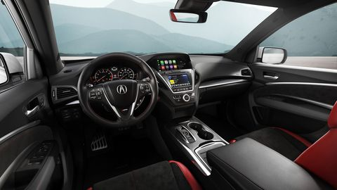 The Acura MDX A-Spec comes with leather seats and two infotainment screens.