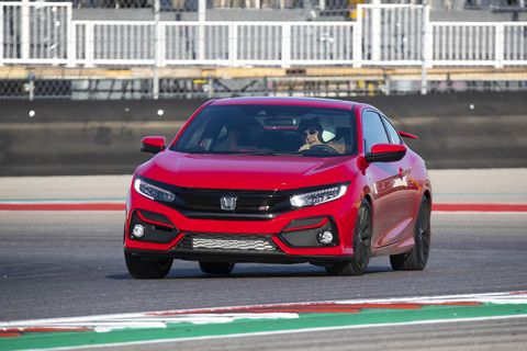 Other than a brake pad change, you're looking at a bone stock 2020 Honda Civic Si lapping Circuit of the Americas. Corners impressively flat for a $25,930 road car.