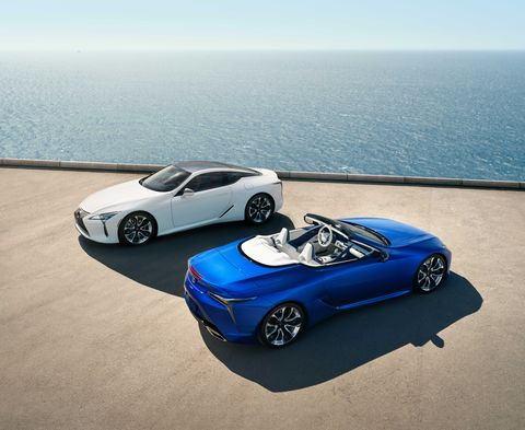 Both the Lexus LC500 coupe and convertible look fantastic.