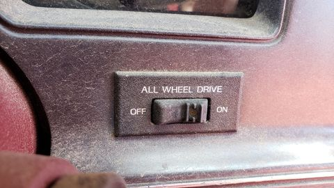This car has a true all-wheel-drive system, so dry-pavement driving in the 4WD setting won't break anything.