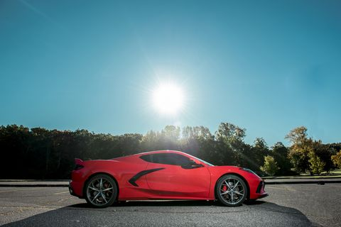 Even the rising sun is impressed with the profile of the 2020 Chevrolet Corvette.