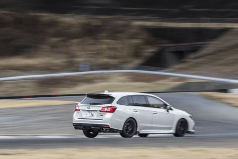 Despite a Nürburgring development pedigree, the Levorg STI Sport isn't a razor-edged weapon; there's lots of body roll and uneven power delivery.