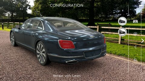 The Bentley Flying Spur AR Visualizer puts a computer-generated Bentley in your driveway or at your desk