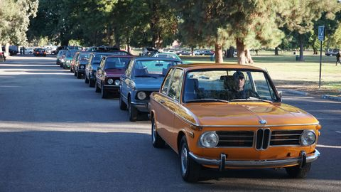 BMW 2002s seemed to be the most popular cars at the 12thAnnual SoCalBMW Meet.